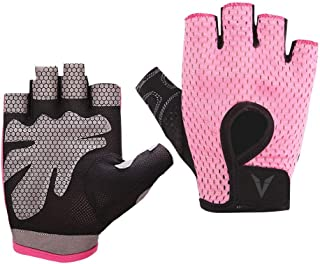 Veadoorn Gym Gloves,Unisex Breathable Non-Slip Silica Gel Grip Exercise Gloves for Sports Cycling Fitness Crossfit Weight-Lifting Bodybuilding
