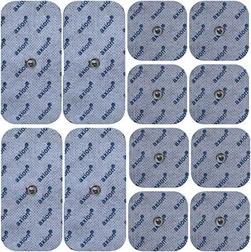 12er Misch-Set Elektroden-Pads - kompatibel mit EMS-Trainern & TENS-Geräten von Sanitas (wie SEM 40,41) & Beurer (wie EM 40,41) | Klebe-Elektroden für Reizstrom-Therapie