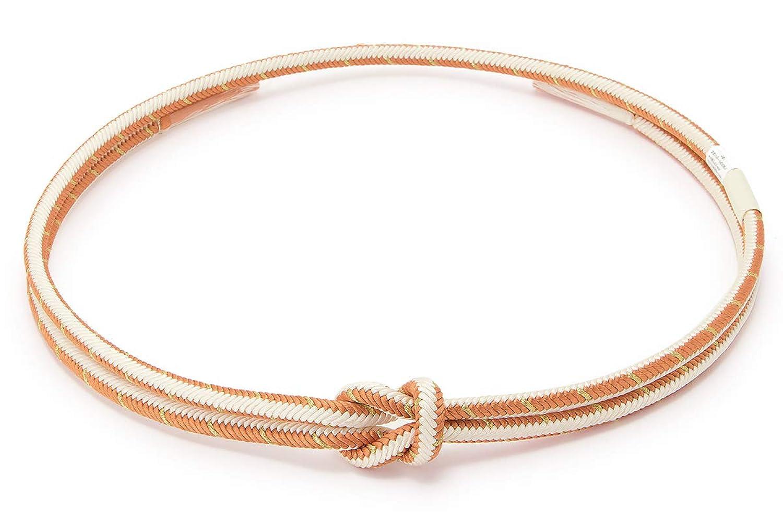 (ソウビエン) 帯締め 翠嵐工房 橙色 白 金色 シンプル 正絹 組紐 丸組 フォーマル カジュアル 日本製