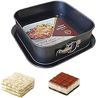 "Springform Pan Cheesecake Pan Leakproof Cake Pan Bakeware Rectangle Nonstick Removable Bottom,Black (9"" x 9"" x 3"") by Meleg Otthon"