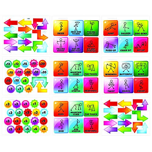 EZ Stick Sensory Path for Hallways – 98 Decals for Floors, Get Moving