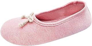 Xiedeai Zapatos de Bailarina para Mujer - Zapatillas de Algodón Suave Materno para Embarazadas de Punto con Tacón Elástico...