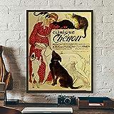 XIXISA Póster de Clinique Cheron de Theophile Alexandre Steinlen, Lienzo Impreso, Pintura, decoración de Pared, 50x70cm, sin Marco