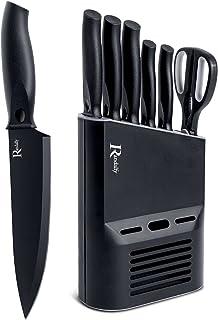 Manelord Couteaux Cuisine, Ensembles de Couteaux de Cuisines Professionnels, 6 Pièces Couteaux de Cuisine Fabriqué avec Bl...
