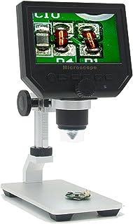 """Microscopio Digital Portátil Pantalla LCD HD de 4.3""""con Soporte Metálico Cámara de video 3.6MP Ampliación de lupa continua CCD 1-600X"""