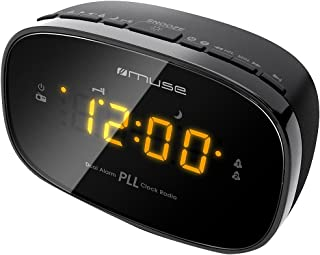 Muse M-150CR - Radio Despertador PLL FM, Negro