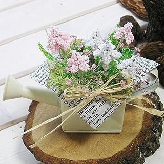 ビーズキット ムスカリとかすみ草(ピンク&ホワイト)