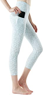 TSLA Yoga Pants 21 inches Capri High-Waist Tummy Control w Pocket