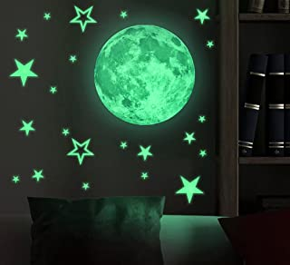 Marsway Kids Removable Moon Stars Glow In The Dark...