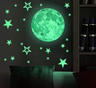 Marsway Kids Removable Moon Stars Glow in The Dark...