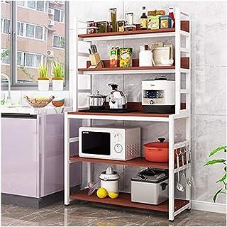 Étagère au Sol Cuisine Four à Micro-Ondes Multi-Couche assaisonnement étagère de Rangement Four casier Armoire Cuisine Ran...