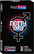 NottyBoy Notty Boy BiggBang 4in1 Multi Textured Condoms - (Ribbed, Dotted, Contour & Climax Delay) 10s