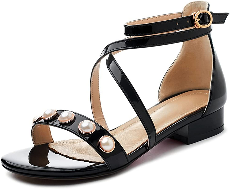 DecoStain Women's Pears Hollow Low Heel Sandals