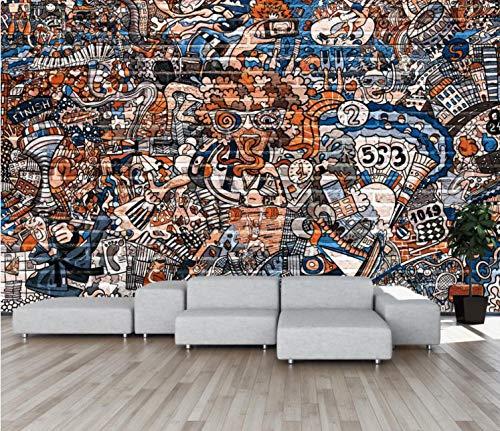 Muurpapier Murales Fotomurale Muro van gereedschappen, creatief, graffiti Street Poster Gigante Fotomurali 140CMx100CM