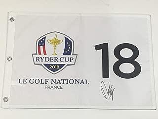 FRANCESCO MOLINARI SIGNED 2018 RYDER CUP FLAG LE GOLF NATIONAL FRANCE TEAM EUROPE PROOF