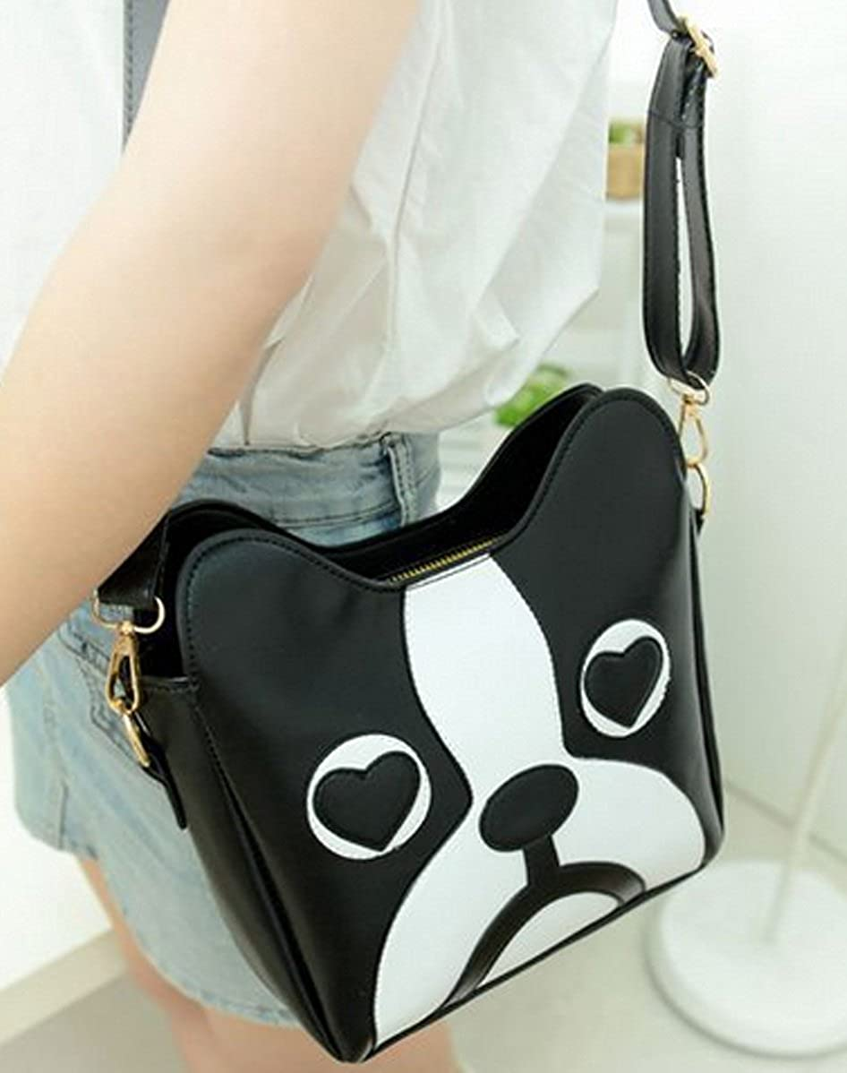 Felice Girls Teens Cute Dog Puppy Face Shoulder Handbag PU Leather Purse Small Crossbody Bag