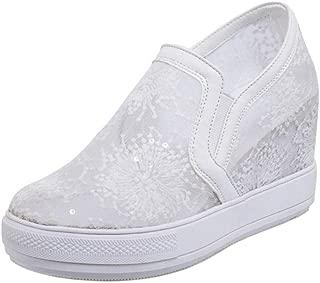 FANIMILA Women Wedge Heels Sneaker Shoes Slip On