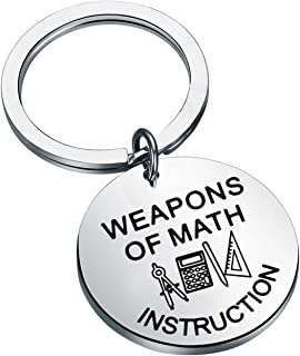 WSNANG Math Gift Weapons of Math Instruction Keychain Funny Math Geek Gifts for Mathematician Math Teacher Math Student