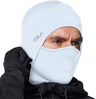 Sponsored Ad - TSLA Men and Women Thermal Fleece Lined Skull Cap, Winter Ski Cycling Cap Under Helmet Liner, Cold Weather ...
