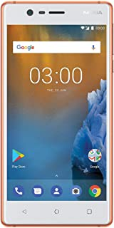 """Nokia 3 - Android 9.0 Pie - 16 GB - Unlocked Smartphone (AT&T/T-Mobile/Metropcs/Cricket/Mint) - 5.0"""" HD Screen - Copper"""