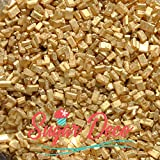 Gold Sugar Crystals - 8 Ounces - Metallic Sprinkles