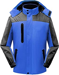 Tuerton 3 in 1 Men's 2-Piece Suit Mountain Jackets Waterproof Ski Jacket Fleece Parka Rain Jacket Winter Coat