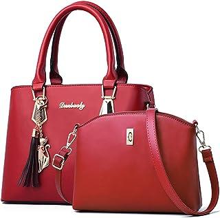 Leather Handbag Sets for Women Ladies Crossbody Purse Tote Shoulder Bag top-handle satchel
