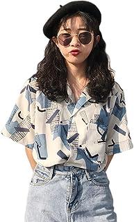 Joint go 夏 レディース シャツ ブラウス アロハシャツ ハワイシャツ 日焼け止め服 五分袖 半袖 花柄 プリント 薄手 ゆったり ビーチ 浜辺 リゾート