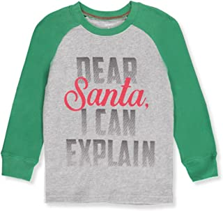 Carter's Boys' Long Sleeve Dear Santa Tee