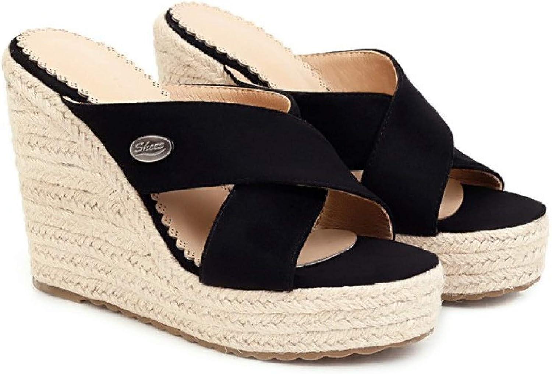 Womens Platform Wedges Fashion Outdoor Ankle Strap Suede Espadrille High Heeled Sandals Dress Shoes