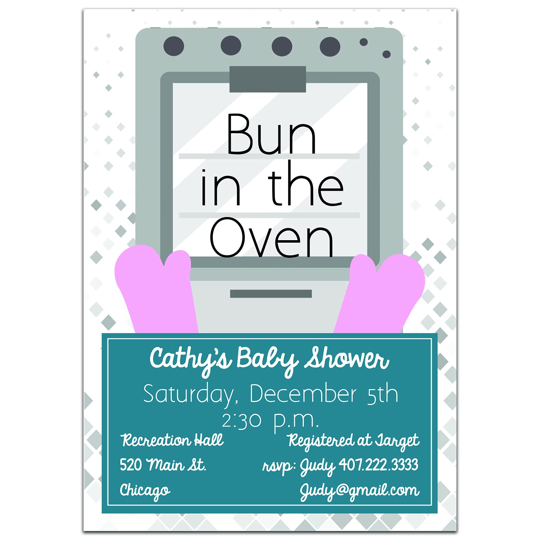 Bun Nashville-Davidson Mall in Oven Invitations Baby Shower