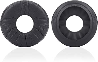 Krone Kalpasmos Replacement Ear Pads for Sony MDR-ZX110, Also Compatible with Sony MDR-ZX330BT/V150/DR-BT101/WH-CH500 and Many Other 70MM Round On-Ear Headphones(List Inside)(Black)