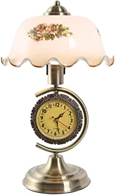 Lámpara de Mesa de Estilo Europeo Retro con Relojes y lámparas ...
