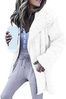 Mogogo Womens Velvet Mid-Long Long Sleeve Open Front Lapel Outwear Jacket