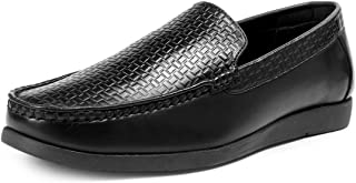 Bacca Bucci® Mens Loafers-Italian Dress Casual Loafers for Men Slip-on Driving Shoe-Black