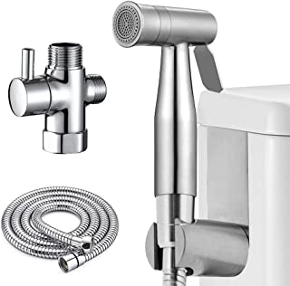 Cloth Diaper Sprayer for Toilet, Atalawa Handheld Bidet Sprayer Set with Dual Mode Spray Head (Jet/Soft) for Toilet Attachment, Pet Dog Bath, Bathroom Cleaning and Personal Hygiene