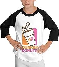 Youth Boys' Girls' Dunkin-Donuts-Logo Logo Basic Tee T Shirt Long Sleeve Crew Neck Tshirt for Girls Boys Shirts