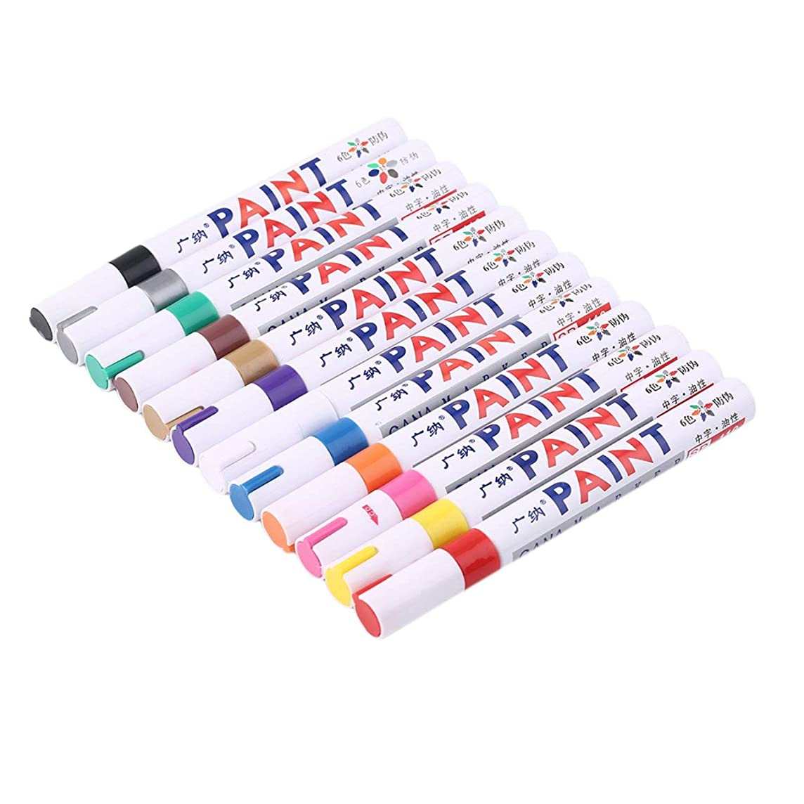 Smartlove1P Indelible Marker Pen Oil Fill Paint Pen Graffiti Multifunctional Tire Pen