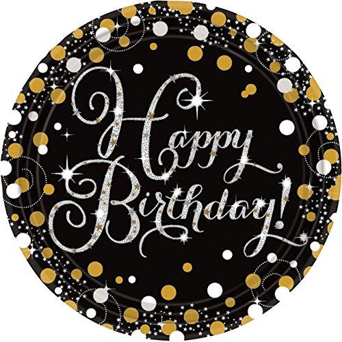 Platos para fiesta de cumpleaños, diseño prismático