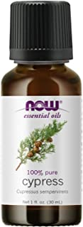 NOW Essential Oils, Cypress Oil, Balancing Aromatherapy Scent, Steam Distilled, 100% Pure, Vegan, Child Resistant Cap, 1-O...