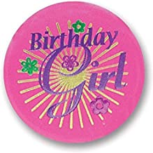 Birthday Age 90 /& Incredible Rosette Ribbon Button Colorful Design Party Gift