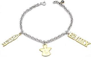 Nome Bracciale - Charm Bracelet - Real Jewelry - Gioielli da donna - Bracciale Angel - Iniziale - Lettere - Nome Arm Jewel...