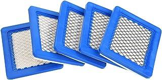 Tnfeeon Filtro de Aire 5pcs para Briggs & Stratton 491588 491588S 399959 John Deere PT15853 13.2 x 11.3 x 2cm