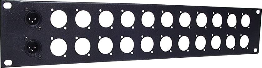 "Generic 2U 24 Way 'D' Series Connector 19"" Patch Rack Panel"