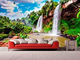 Fotomural Vinilo para Pared Paisaje Cascadas Argentina | Fotomural para Paredes | Mural | Vinilo Decorativo | Varias Medidas 200 x 150 cm | Decoración comedores, Salones, Habitaciones.