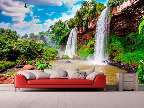 Papel Pintado para Pared Paisaje Cascadas Argentina | Fotomural para Paredes | Mural | Papel Pintado | Varias Medidas 100 x 70 cm | Decoración comedores, Salones, Habitaciones.