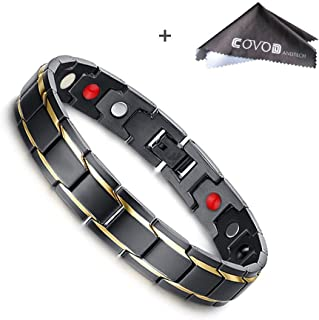 Titanium Magnetic Therapy Health Bracelet  - 2018 New Pure Row 4 Elements Magnetic Therapy Bracelets (men)
