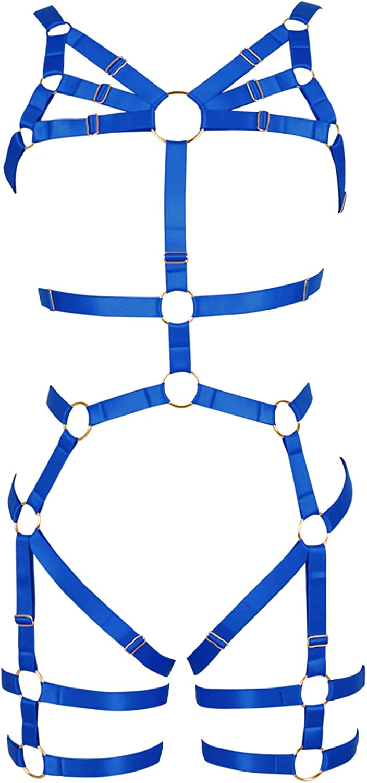 Lingerie cage Bra Garter belt set Full body harness for women Punk Plus size Halloween Gothic Chest strap Festival Rave
