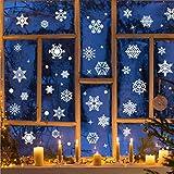Pegatinas para ventana de Navidad, copos de nieve, decoración de Navidad, Papá Noel, imágenes de ventanas, imágenes de invierno, escaparates, copos de nieve, decoración navideña