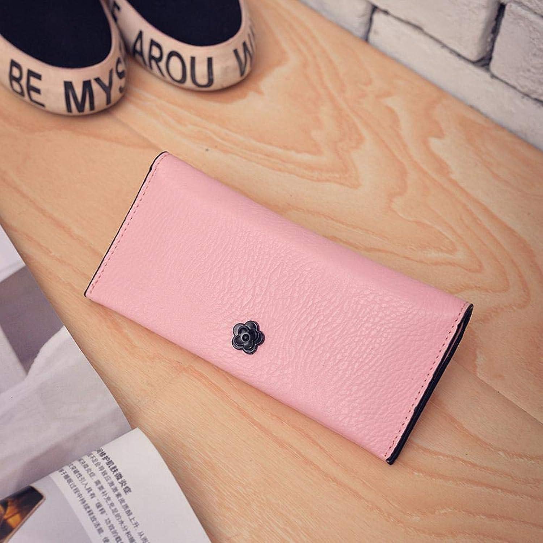 Girls Purse Women's Wallet Ladies Pu Wallet Hand Bag (color   D)